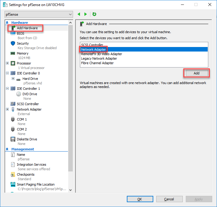 pfSense on Azure - Part 1 - Create pfSense Virtual Machine