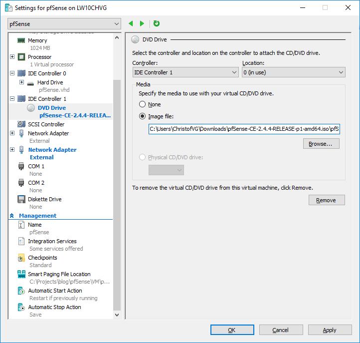 pfSense on Azure - Part 1 - Create pfSense Virtual Machine | Christof VG